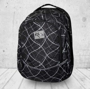 White on black Backpack 2in1