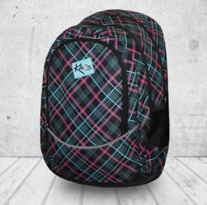 Line tweed backpack