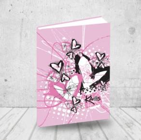 Sketch heart notebook