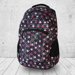 Pink waves backpack
