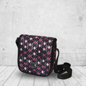 Pink waves city bag