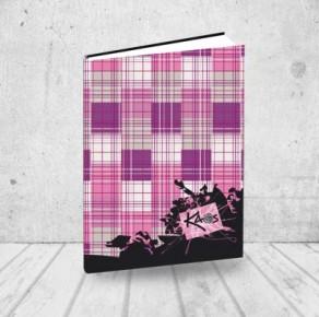 Pink tweed notebook