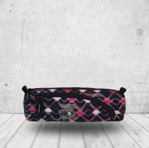 Pink waves pencil case